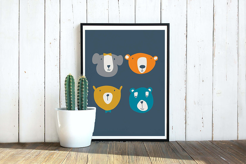 Bear Club Art Print