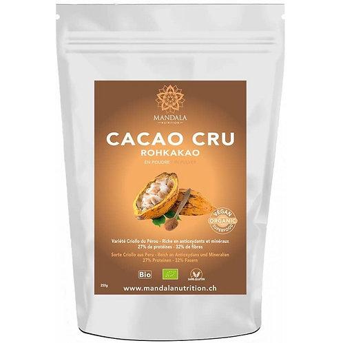 Cacao Criollo Cru BIO Riche en antioxydants du Pérou