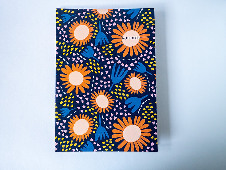Happy Flowers A5 Notebook