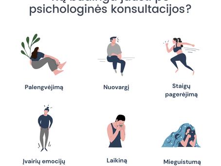 Ką būdinga jausti po psichologinės konsultacijos?
