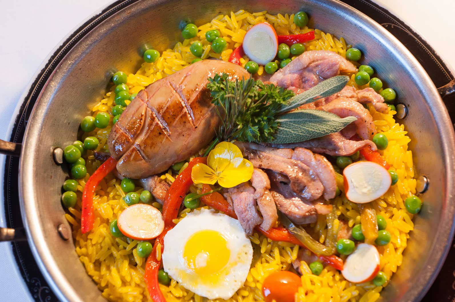 "Paella de Frutos do ""Ar"""