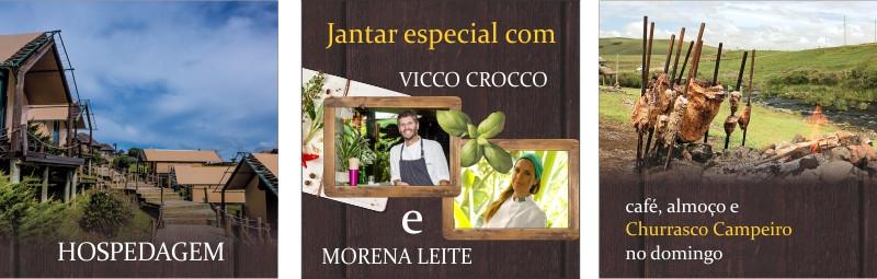 Vicco Crocco e Morena Leite