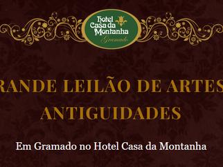 22 de Abril | Grande Leilão de Artes e Antiguidades no Casa da Montanha!