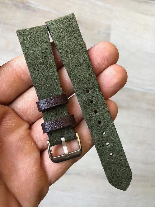 Khaki Green Suede
