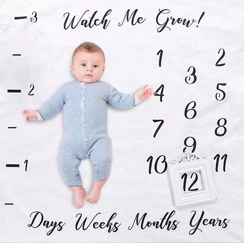 תיעוד השנה הראשונה | שמיכת צילום לתינוק | התפתחות התינוק | Chew Babiez