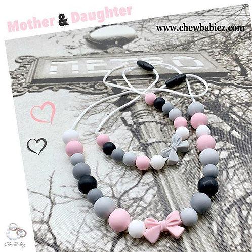Paris Chic  Mother Daughter Necklaces Set