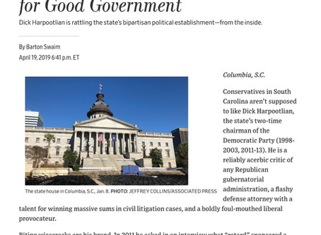 "WSJ: ""South Carolina's Unlikely Crusader for Good Government"""