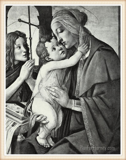 John the Baptist with Jesus and Mary