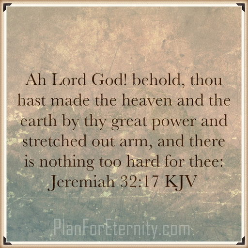 Nothing is too difficult for God