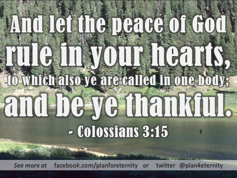 Be peaceful & thankful
