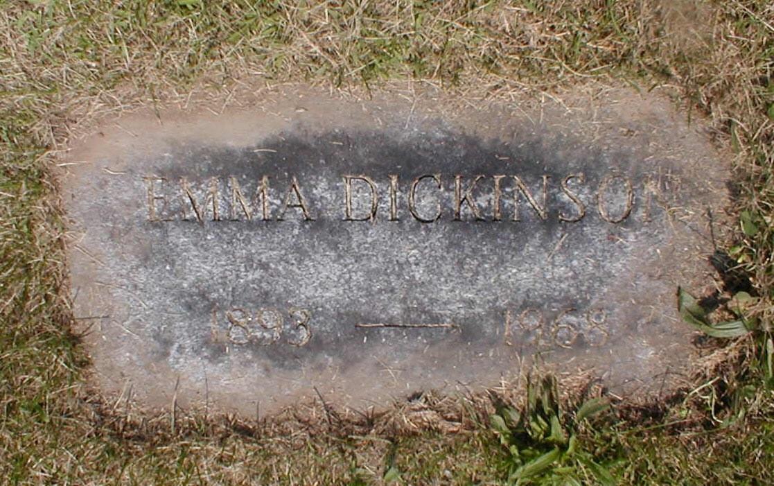 Emma Dickinson burial