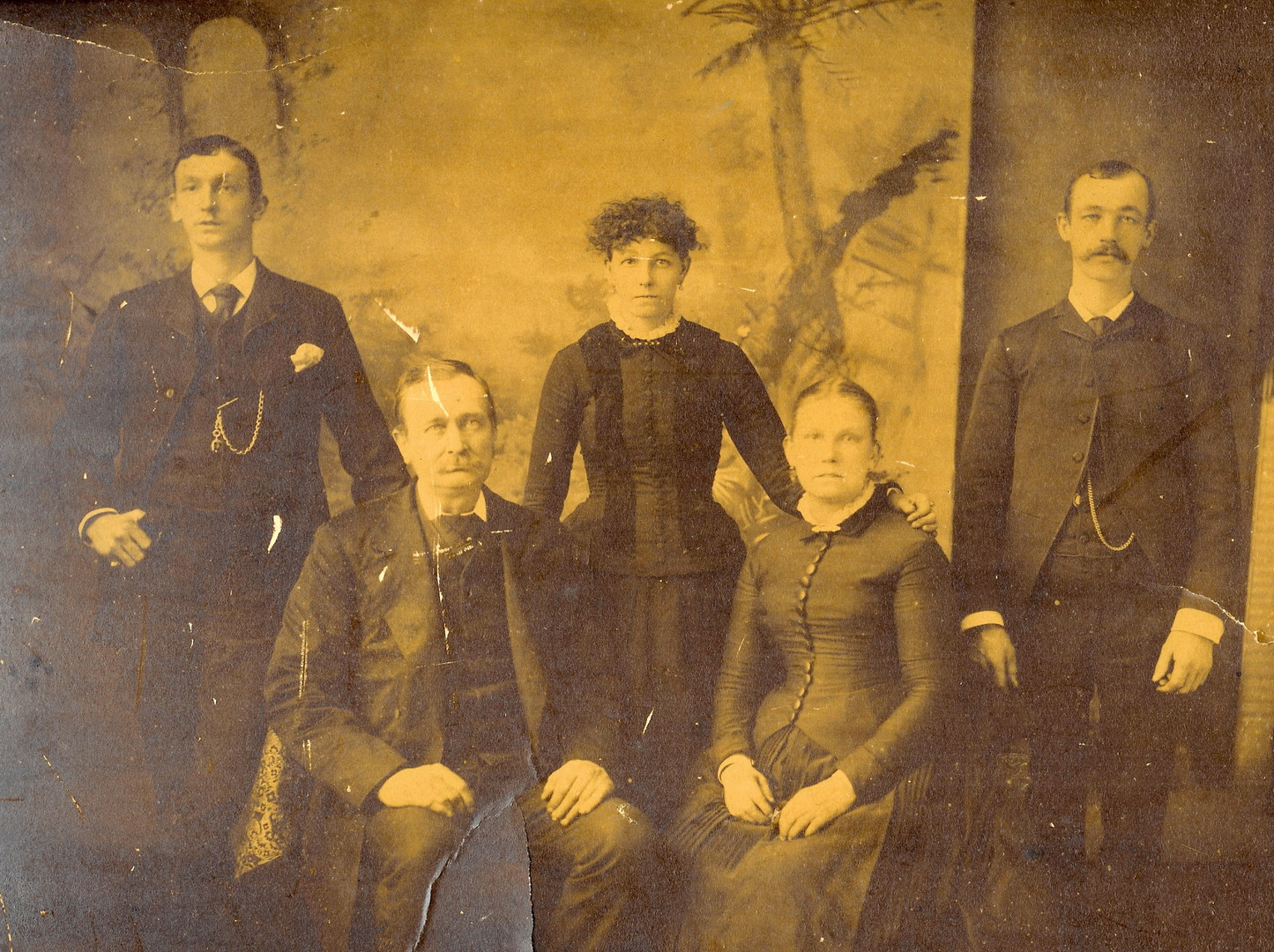 John and Elizabeth Dickinson family portrait