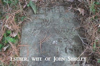 Esther Shirley gravestone