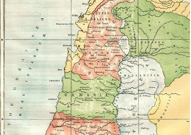 Map X - PALESTINE, IN THE TIME OF JESUS CHRIST