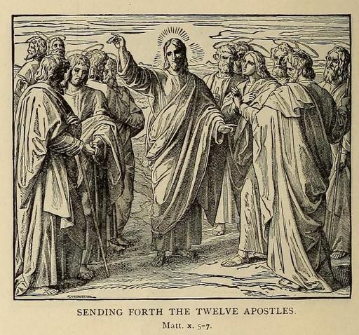 Sending forth the twelve apostles