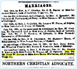 John Jacobs marries Ann Eliza Wetmore