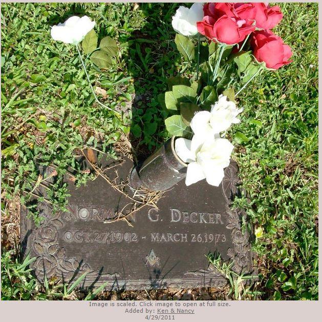 Norman G. Decker grave