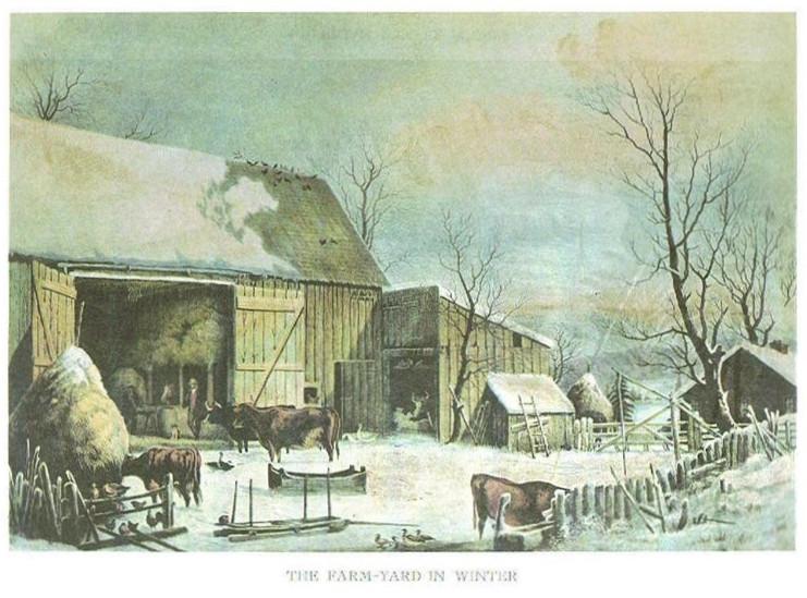 FARM-YARD IN WINTER