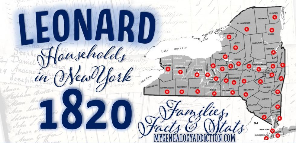 Leonards on the 1820 Census NY.jpg