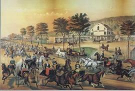 FAST TROTTERS ON HARLEM LANE, N.Y.