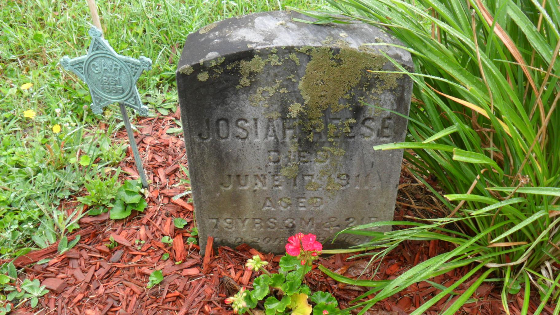 Josiah Reese burial at Franklin Stone Heap Cemetery