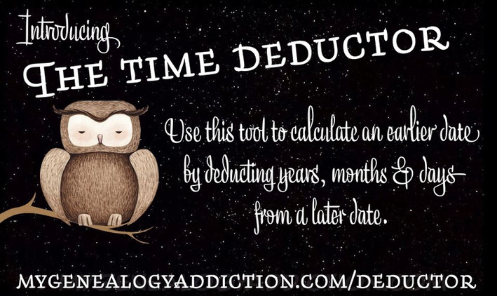Time Deductor (Calculate a date x years, months and days ago)