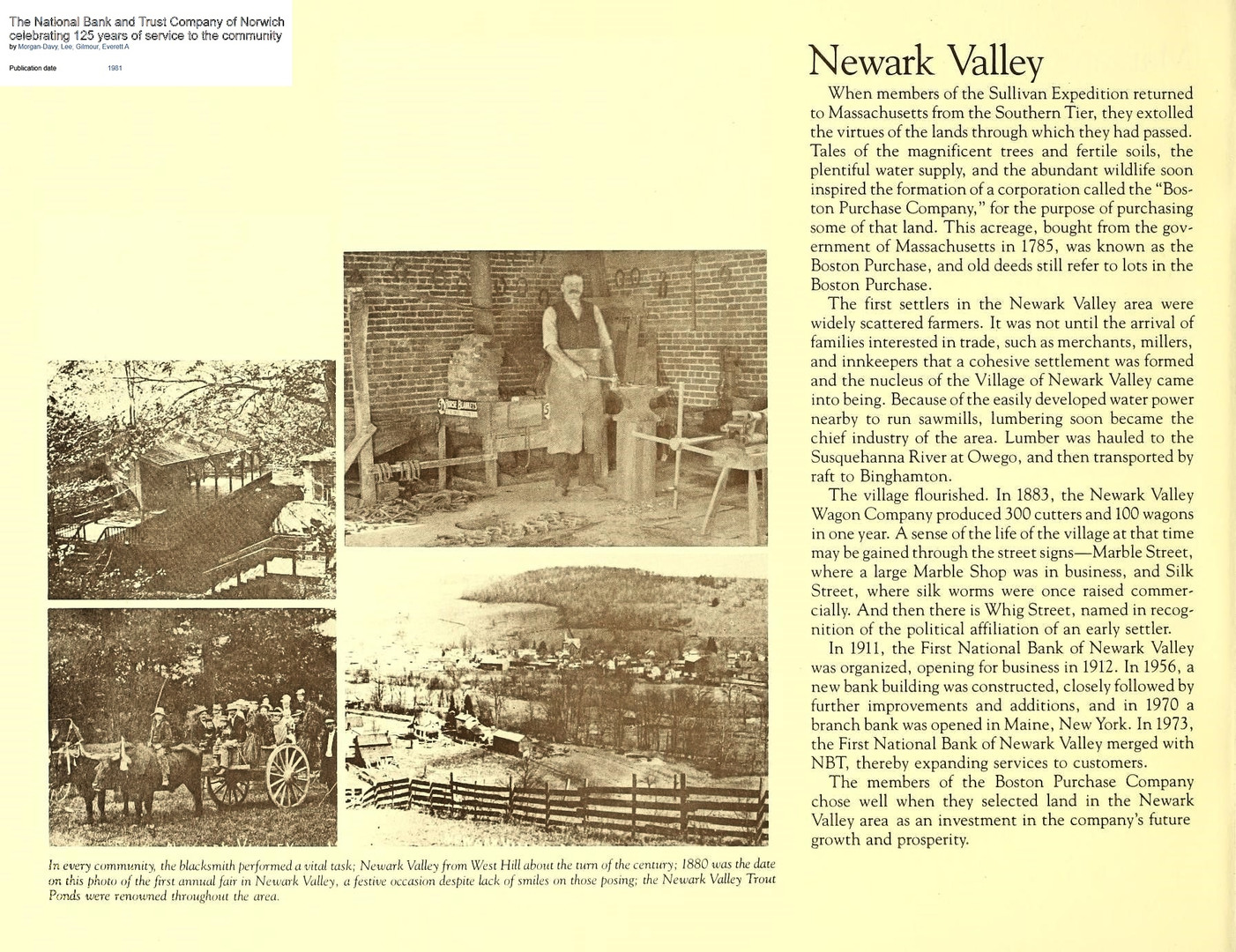 Newark Valley in old times