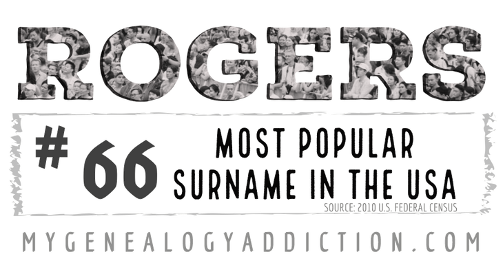 Rogers, ranked 66th among the most common surnames in the USA