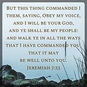 Jeremiah 7:23