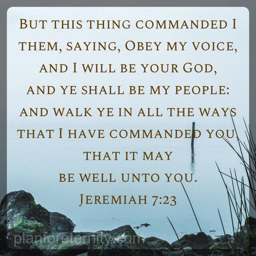 Obey my voice and I will be your God