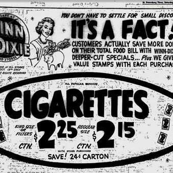 1962 Cigarette Ad - $2.25 a Carton