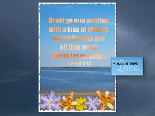 Greet each other with love