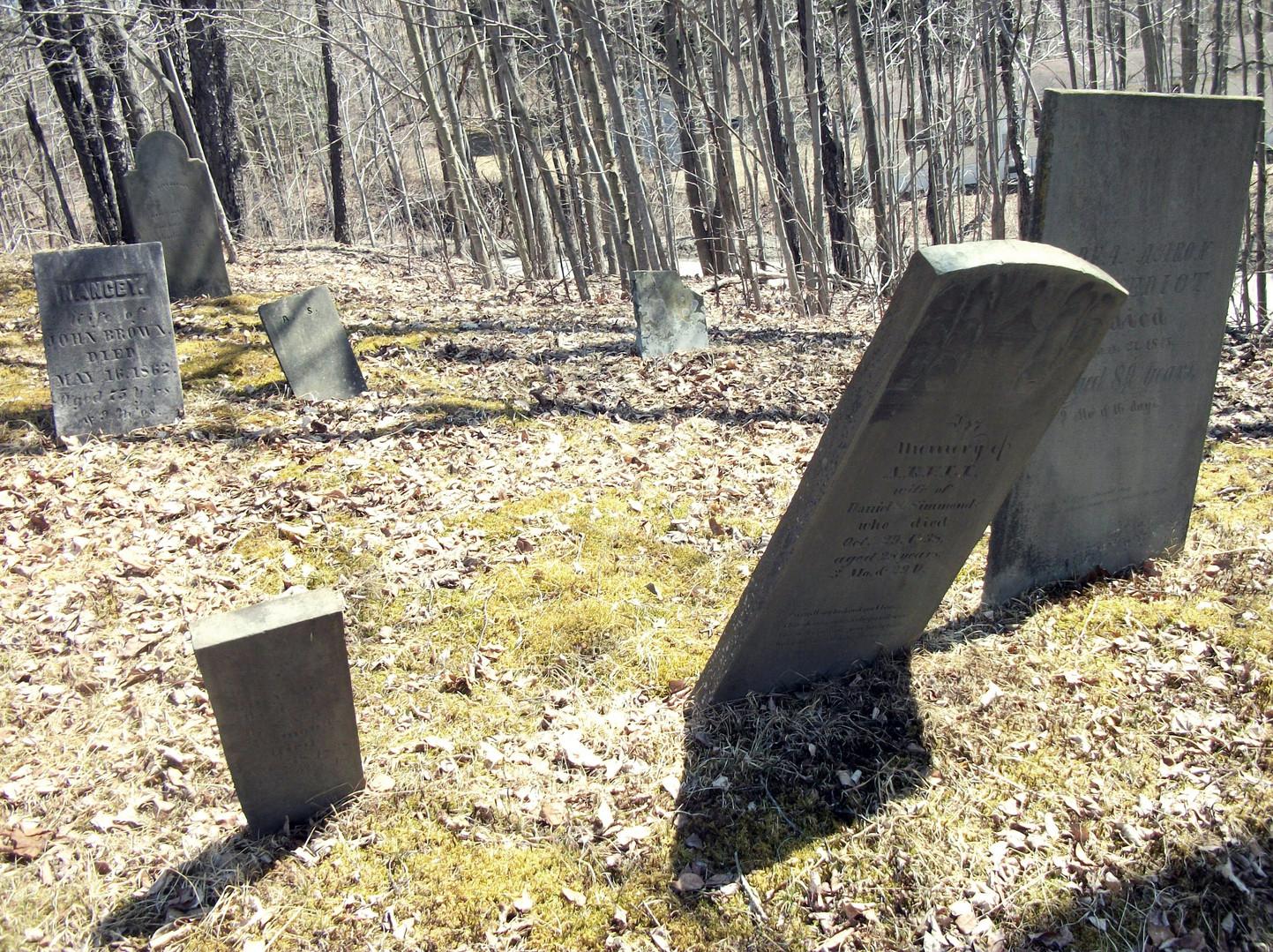 Nancy Wood burial at Bemis Cemetery