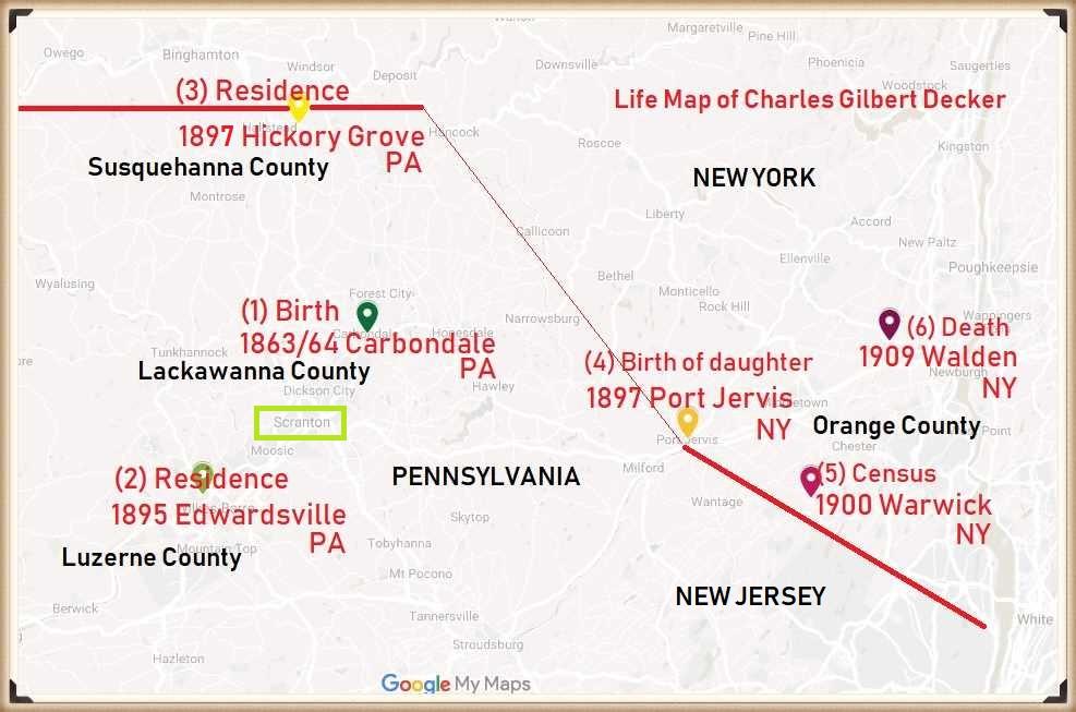 Charles Decker life map