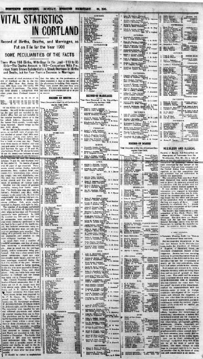 Cortland Standard 2-22-1909
