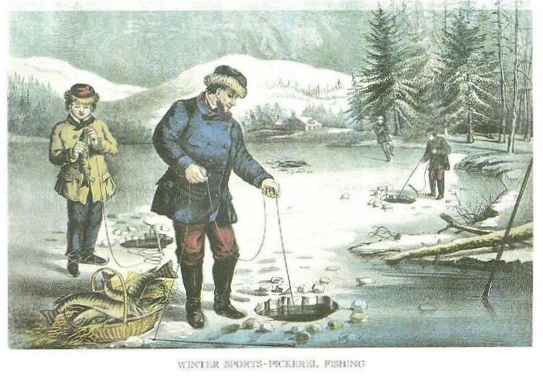 WINTER SPORTS - PICKEREL ICE FISHING