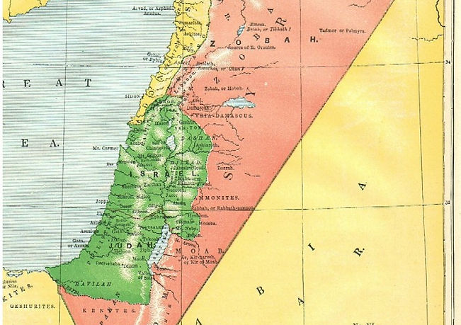 Map VI - THE TERRITORIES OF THE HEBREWS DURING THE REIGNS OF DAVID AND SOLOMON