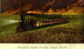PRAIRIE FIRES GREAT WEST RAILROAD