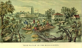 HIGH WATER IN THE MISSISSIPPI