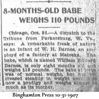 8-Month-Old Babe Weighs 110 Pounds