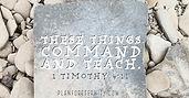 1 Timothy 4:11