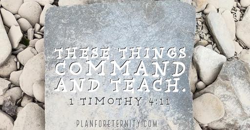 Command and teach