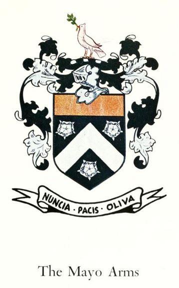 Arms of John Mayo of Roxbury branch