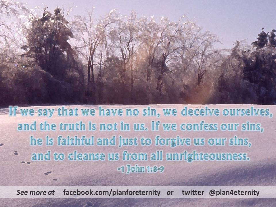 Confession of sins for cleansing