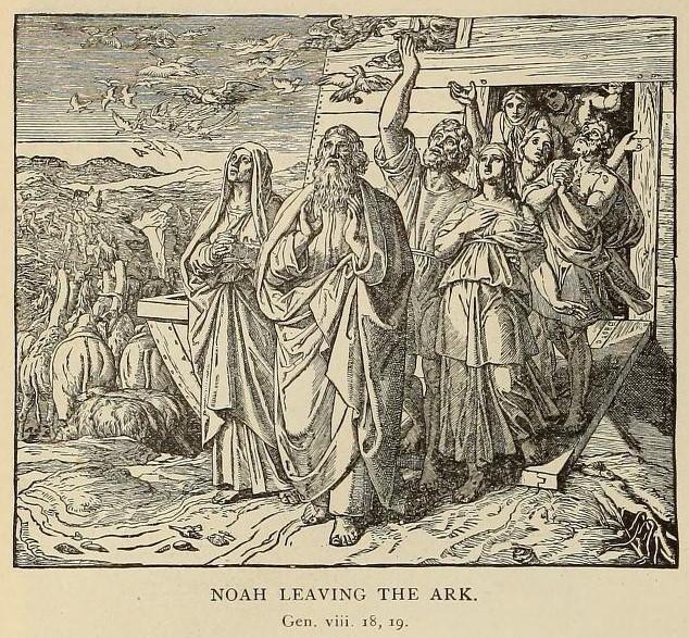 Noah leaves the ark