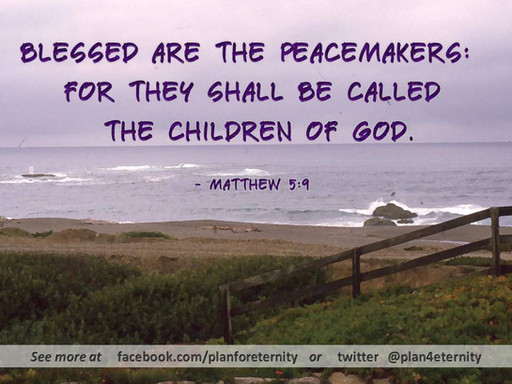 God's people are peaceful