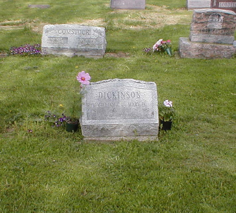 William H Dickinson burial