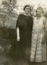 Delaphina Decker and half-sister Olive (Ames) Henry