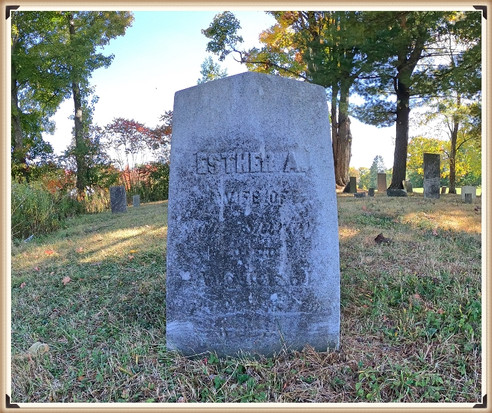 Esther (Ensign) Shirley's grave