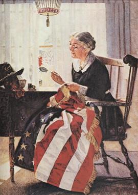 MENDING THE FLAG